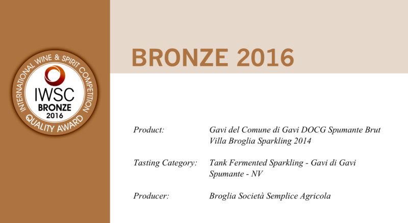 Medaglia di Bronzo IWSC